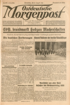 Ostdeutsche Morgenpost, 1938, Jg. 20, Nr. 226