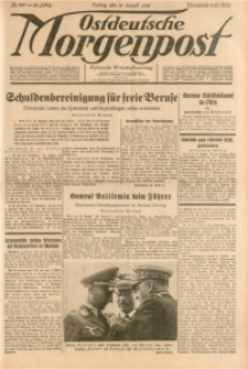 Ostdeutsche Morgenpost, 1938, Jg. 20, Nr. 227