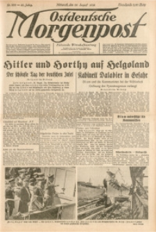 Ostdeutsche Morgenpost, 1938, Jg. 20, Nr. 232