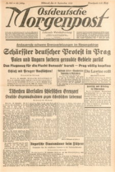 Ostdeutsche Morgenpost, 1938, Jg. 20, Nr. 260