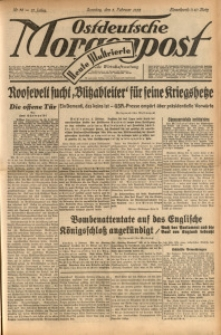 Ostdeutsche Morgenpost, 1939, Jg. 21, Nr. 36
