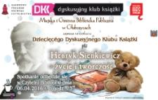 Zaproszenie na spotkanie Dziecięcego Dyskusyjnego Klubu Książki. Kwiecień 2016.