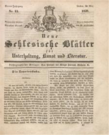 Neue Schlesische Blätter für Unterhaltung, Kunst und Literatur, 1838, Jg. 4, Nr. 13