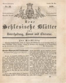 Neue Schlesische Blätter für Unterhaltung, Kunst und Literatur, 1838, Jg. 4, Nr. 22