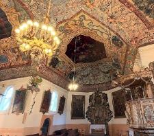 Baborów. Fragment polichromii w kościele pw. św. Józefa.