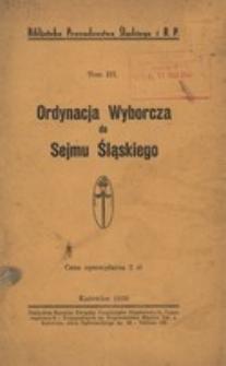 Ordynacja wyborcza do Sejmu Śląskiego