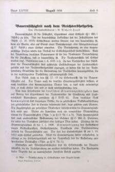 Neues Bauerntum, 1936, Bd. 28, H. 8
