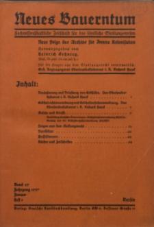 Neues Bauerntum, 1937, Bd. 29, H. 1