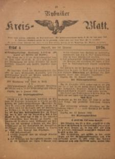 Rybniker Kreis-Blatt, 1920, Jg. 79, St. 4