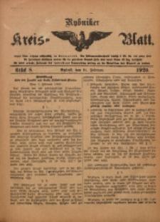 Rybniker Kreis-Blatt, 1920, Jg. 79, St. 8