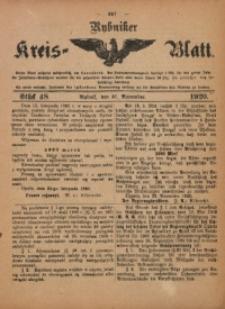 Rybniker Kreis-Blatt, 1920, Jg. 79, St. 48