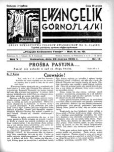 Ewangelik Górnośląski, 1936, R. 5, nr 13