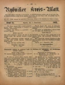 Rybniker Kreis-Blatt, 1921, Jg. 80, St. 22