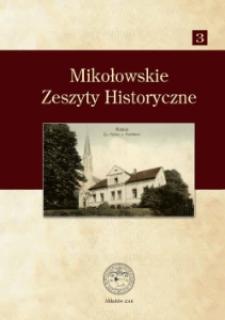 Mikołowskie Zeszyty Historyczne nr 3