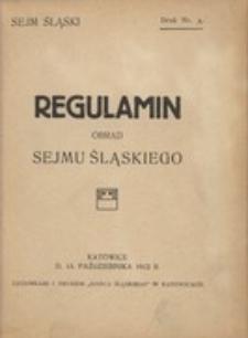 Regulamin obrad Sejmu Śląskiego