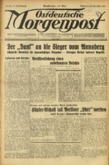 Ostdeutsche Morgenpost, 1931, Jg. 13, Nr. 84