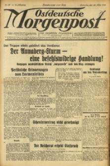 Ostdeutsche Morgenpost, 1931, Jg. 13, Nr. 87