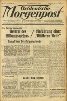 Ostdeutsche Morgenpost, 1931, Jg. 13, Nr. 98