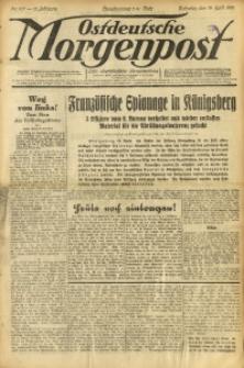 Ostdeutsche Morgenpost, 1931, Jg. 13, Nr. 107