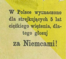 W Polsce wyznaczono dla strejkujących [!] 5 lat ciężkiego więżenia [!], dlatego głosuj za Niemcami!