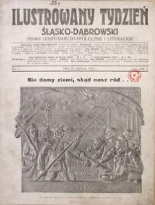 Ilustrowany Tydzień Śląsko-Dąbrowski, 1922, R. 1, Nr. 1