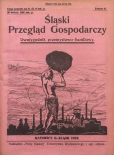 Śląski Przegląd Gospodarczy, 1922, R. 1, z. 8