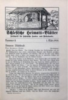 Schlesische Heimats-Blätter, 1907/1908, Jg. 1, Nr. 11
