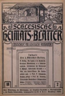 Schlesische Heimats-Blätter, 1908/1909, Jg. 2, Nr. 2