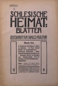 Schlesische Heimats-Blätter, 1908/1909, Jg. 2, Nr. 8