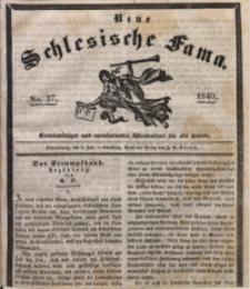 Neue Schlesische Fama, 1840, Jg. 14, No. 27