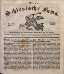 Neue Schlesische Fama, 1840, Jg. 14, No. 40