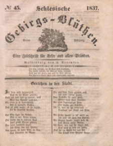Schlesische Gebirgs-Blüthen, 1837, Jg. 3, No 45