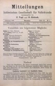 Mitteilungen der Schlesischen Gesellschaft für Volkskunde, 1896/1897, Bd. 2, H. 3, No 1