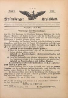Rosenberger Kreisblatt, 1899, St. 9
