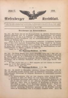 Rosenberger Kreisblatt, 1899, St. 27