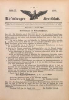 Rosenberger Kreisblatt, 1899, St. 33