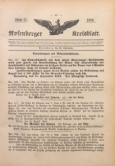 Rosenberger Kreisblatt, 1899, St. 37