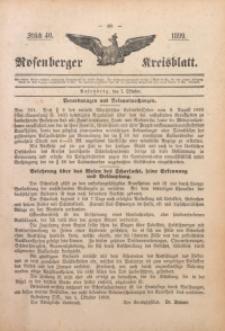 Rosenberger Kreisblatt, 1899, St. 40