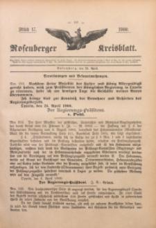Rosenberger Kreisblatt, 1900, St. 17