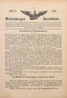 Rosenberger Kreisblatt, 1900, St. 31