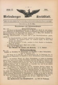 Rosenberger Kreisblatt, 1901, St. 13