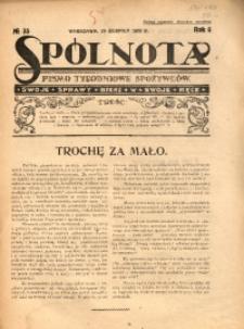 Spólnota. Pismo Tygodniowe Spożywców, 1926, R. 6, No 35