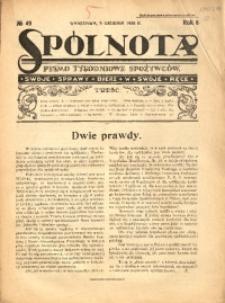 Spólnota. Pismo Tygodniowe Spożywców, 1926, R. 6, No 49