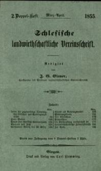 Schlesische Landwirthschaftliche Vereinsschrift, 1855, Jg. 2, H. 2