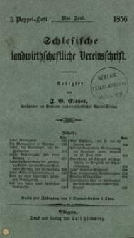 Schlesische Landwirthschaftliche Vereinsschrift, 1856, Jg. 3, H. 3