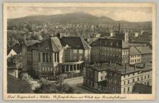 Bad Ziegenhals i. Schles., St. Josephshaus mit Blick zur Bischofskoppe