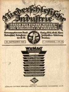Niederschlesische Industrie, 1925, Jg. 1, Nr. 18
