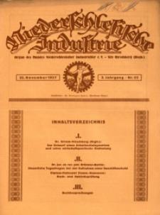 Niederschlesische Industrie, 1927, Jg. 3, Nr. 22