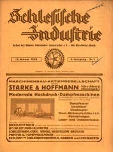 Schlesische Industrie, 1929, Jg. 5, Nr. 1