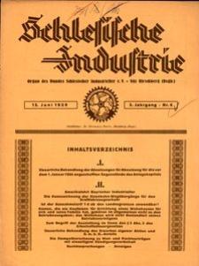 Schlesische Industrie, 1929, Jg. 5, Nr. 6